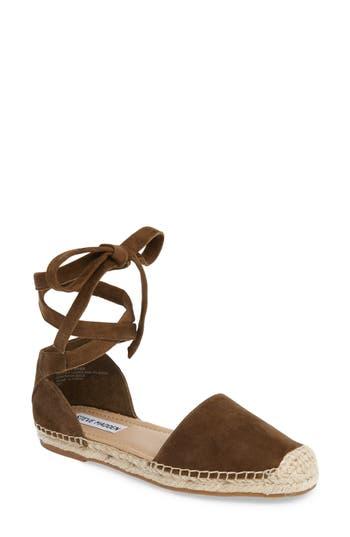 Women's Steve Madden Rosette Ankle Wrap Espadrille Flat