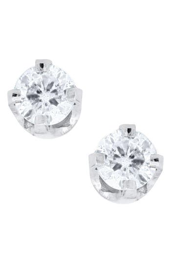 Infant Girl's Mignonette 14K White Gold & Diamond Earrings