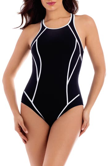 Women's Miraclesuit Line Up One-Piece Swimsuit