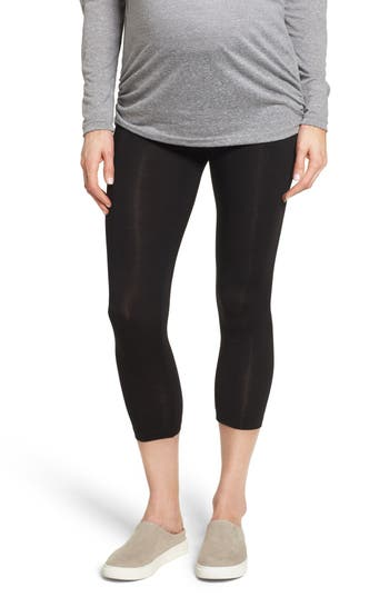 Lab40 Foldover Waistband Maternity Capri Leggings