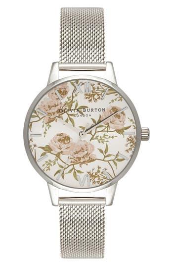 Women's Olivia Burton Parlour Mesh Strap Watch, 30Mm