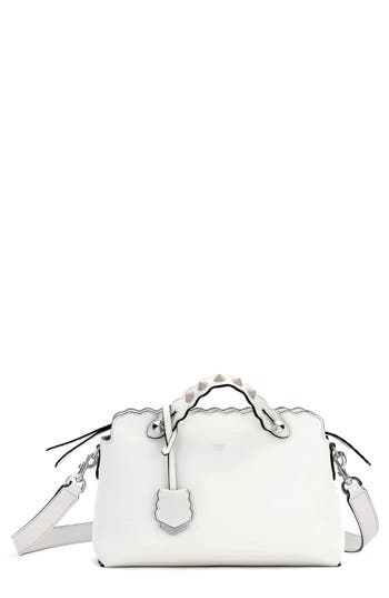 Fendi Medium By The Way Leather Shoulder Bag - White