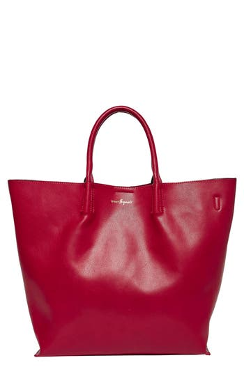 Urban Originals Butterfly Vegan Leather Tote - Red