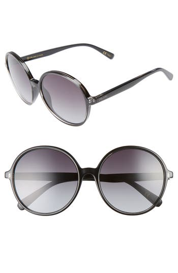 Women's D'Blanc Prose 59Mm Round Sunglasses - Black Crystal Gloss/ Gradient
