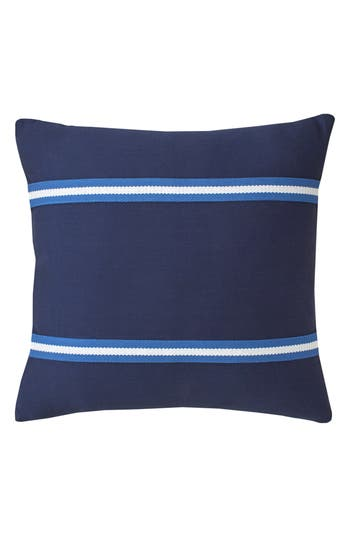 Southern Tide Dock Street Stripe Tape Accent Pillow, Size One Size - Blue