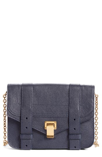 Women's Proenza Schouler Ps1 Lambskin Leather Chain Wallet - Blue