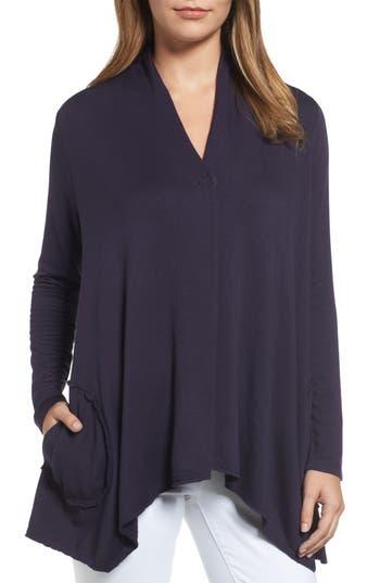 Women's Bobeau Snap Front Jacket, Size X-Small - Blue