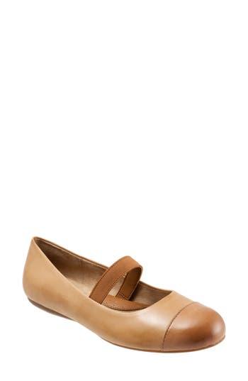 Softwalk Napa Mary Jane Flat, Brown