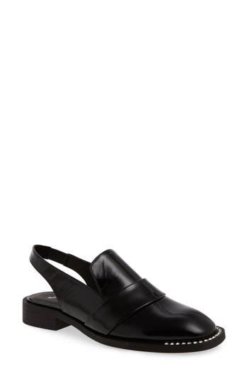 Women's Free People Abbey Road Embellished Slingback Loafer, Size 6-6.5US / 36EU - Black