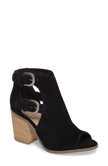 Sole Society Hyperion Peep Toe Bootie- Black