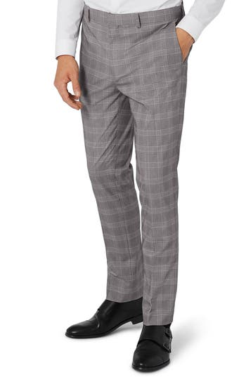 Men's Topman Skinny Fit Check Suit Trousers