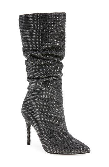 Jessica Simpson Layzer Embellished Slouch Boot, Metallic