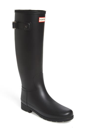 Hunter Original Refined Rain Boot, Black