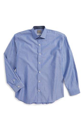 Boy's Thomas Dean Dobby Dress Shirt