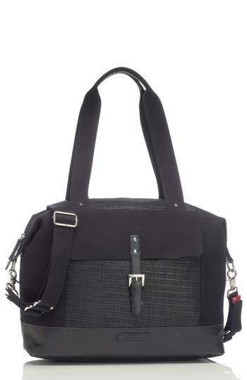 Infant Storksak Jude Convertible Diaper Bag - Black