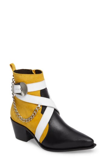 Topshop Move It Western Boot - Yellow