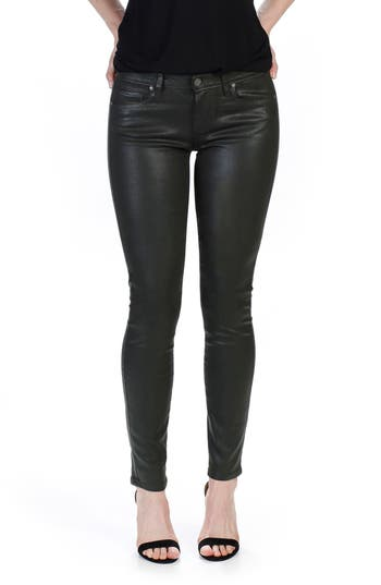 Women's Paige Transcend - Verdugo Coated Skinny Jeans