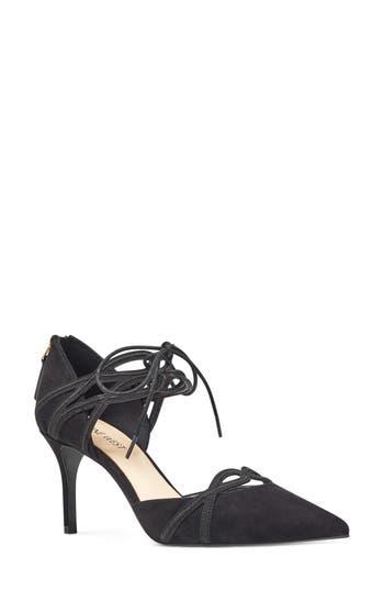 Women's Nine West Mayeff Ankle Tie Pump, Size 8 M - Black
