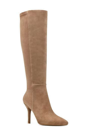 Nine West Fallon Pointy Toe Knee High Boot, Brown
