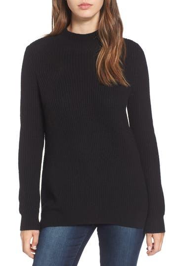 Women's Bp. Mock Neck Tunic Sweater, Size XX-Small - Black
