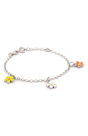 Girl's Speidel Flower Charm Bracelet