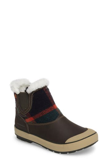 Keen Elsa Chelsea Waterproof Faux Fur Lined Boot, Brown