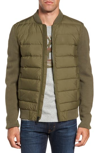 Men's Timberland Diamond River Mixed Media Down Jacket, Size Large - Green