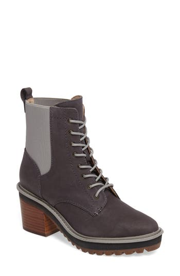 Kelsi Dagger Brooklyn Parkway Lace-Up Bootie, Grey