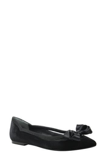 Women's J. Renee Allitson Bow Flat, Size 9.5 D - Black