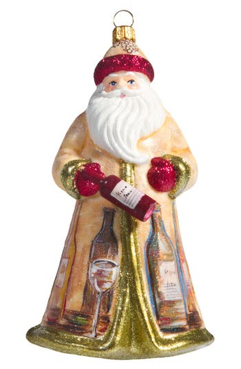 Joy To The World Collectibles Glitterazzi Vineyard Santa Ornament, Size One Size - White