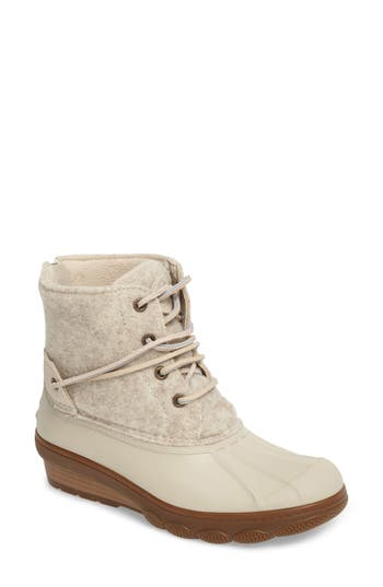 Sperry Saltwater Tide Wedge Boot, Ivory