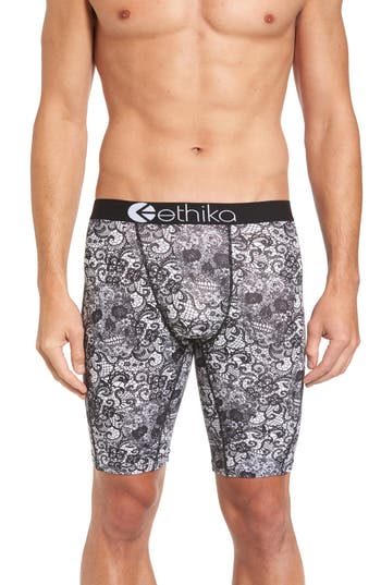Men's Ethika Dead Man'S Lace Boxer Briefs