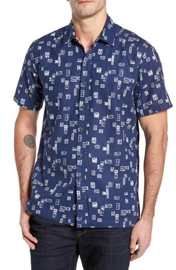 Men's Kahala Beach Party Trim Fit Print Sport Shirt
