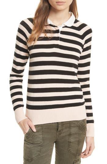 Women's Joie Gabbe Stripe Sweater, Size X-Small - Black