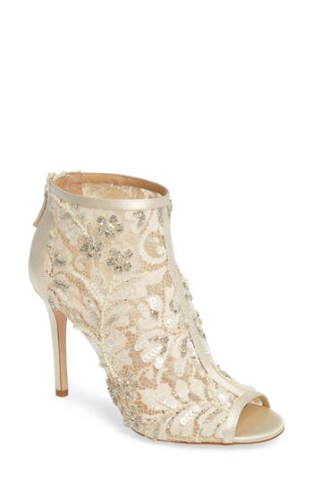Women's Badgley Mischka Moyra Embellished Lace Bootie