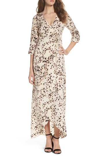 Women's Knot Sisters Monica Maxi Wrap Dress, Size X-Small - Pink