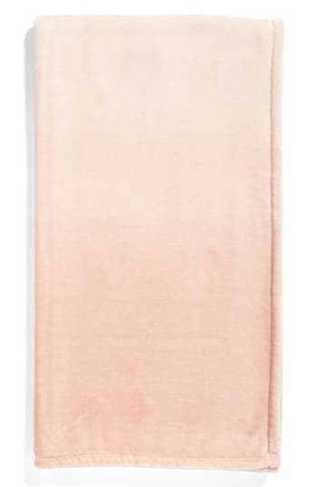 Nordstrom At Home Print Plush Throw Blanket, Size One Size - Pink
