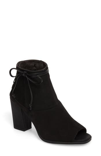 Seychelles Triple Threat Open Toe Bootie- Black