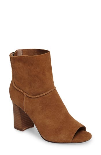 Sbicca Rozene Peep Toe Seamed Bootie, Brown