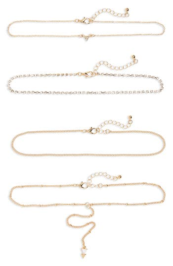 Women's Bp. 4-Pack Rhinestone Chokers
