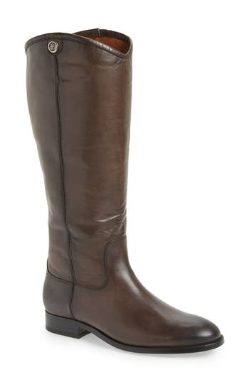 Frye Melissa Button 2 Knee High Boot, Wide Calf- Brown