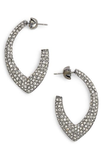 Women's Jenny Packham Pavé Marquise Hoop Earrings