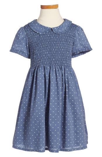 1940s Children's Clothing: Girls, Boys, Baby, Toddler Toddler Girls Mini Boden Pretty Smock Dress Size 3-4Y - Blue $52.00 AT vintagedancer.com