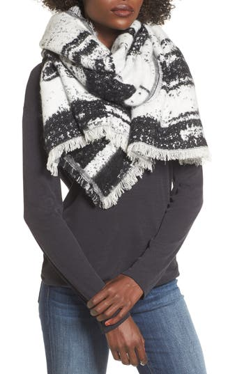 Women's Sole Society Textured Blanket Scarf, Size One Size - Black