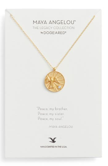 Women's Dogeared The Legacy Collection - Peace, My Brother Pendant Necklace