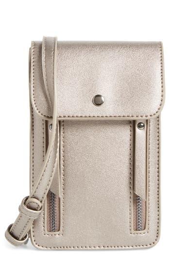 Bp. Zipper Phone Crossbody Bag - Grey