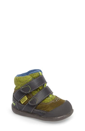 Infant Boy's See Kai Run Atlas Waterproof Boot, Size 4 M - Green