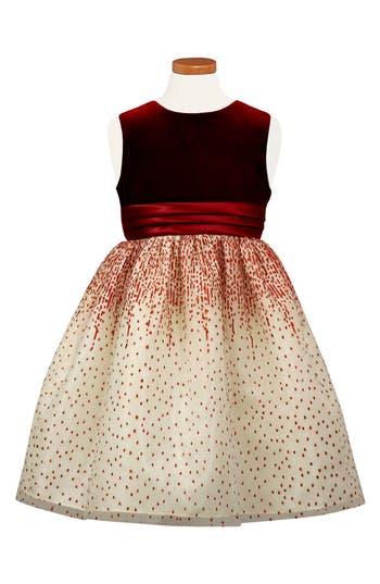 Girl's Sorbet Velvet Bodice Party Dress