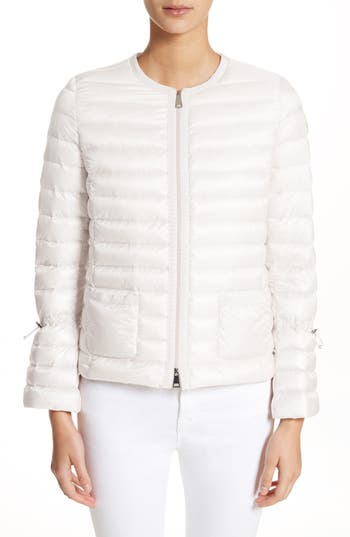 Moncler Almandin Quilted Puffer Jacket, White