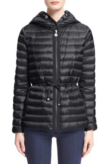 Women's Moncler 'Raie' Water Resistant Hooded Down Jacket
